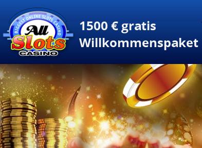 All Slots Casino – neuer und aktueller Willkommensbonus